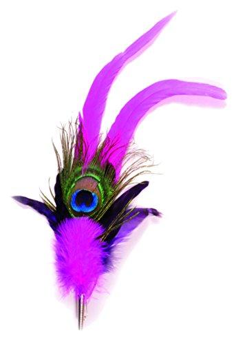 Elegant verenstuk met echte pauwenveren in verschillende tinten. Beierse sieraden voor de hoed passend bij de klederdracht