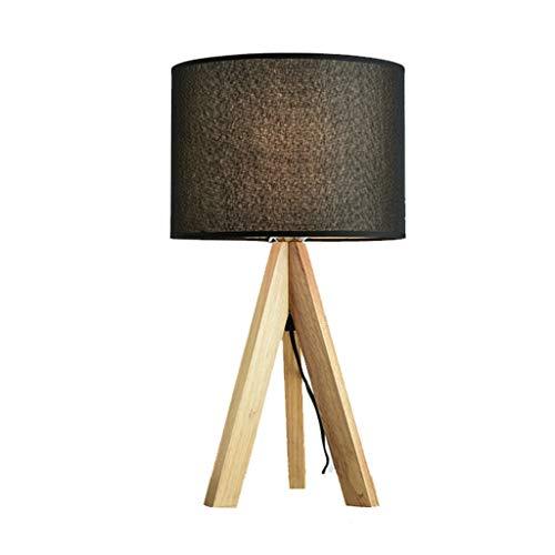 Lampes de table en Bois Massif Style Japonais Chambre Étude De Chevet Décoration Nordique en Bois Massif À LED Simple Moderne