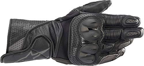 SDDISTRIBUZIONE Alpinestars SP-2 V3 - Guantes de piel para moto, color negro y gris, S