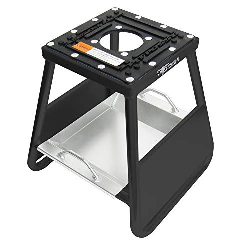 Pit Posse PP277BK Motorcycle Panel ID Stand Fits Motocross Dirt Bike MX Honda Kawasaki Suzuki Yamaha KTM Comes with a Removable Tool Tray - 5 Year Warranty- Motorcycles/Automotive Accessories