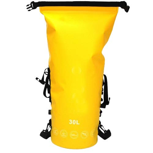 SYyshyin Hiking Backpack Full Airtight Shoulder Waterproof Bag For Diving Cave Exploration Swimming Storage Bag (Color : Yellow)
