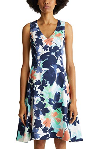 ESPRIT Collection Damen Cocktail Cocktailkleid, Weiß, 42