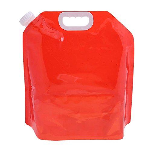 chebao, Al aire libre plegable agua Bag5L plegable transparente portátil deportes al aire libre senderismo bolsa de almacenamiento de agua/rojo
