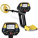 INTEY Metal Detector for Adults & Teenager & Kids, Pointer, Waterproof Coil, Adjustable Stem, Discrimination Mode, Pinpoint Precise Positioning, with Headphone Jack Updated Version
