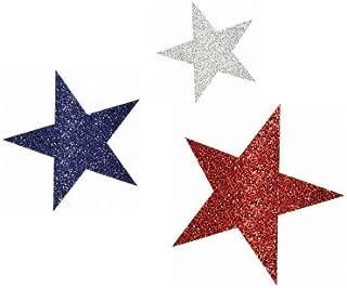Shindigz Patriotic Glitter Cutouts (Assorted)