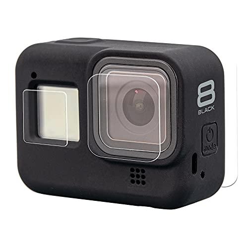 Lammcou Funda Protectora de Silicona para Hero8 Black, Sleeve Case & Cordón & Protector de Pantalla de Vidrio Protector de Pantalla Compatible con GoPro Hero 8 Accessory