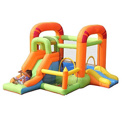 LGLE Castillos hinchables de las gorilas hinchables, casa de juguete para niños con tobogán y bomba eléctrica para el jardín interior y al aire libre, 255X385X230CM,