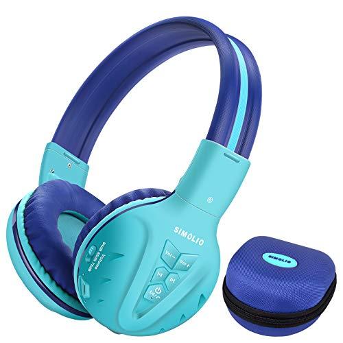 SIMOLIO Casque Bluetooth Enfant, Casque Audio Enfant, Casque pour Enfant, Ecouteurs sans Fil avec Mic pour Enfants, Oreillette stéréo Bluetooth sans Fil Pliable pour Enfants et Adolescents (Menthe)