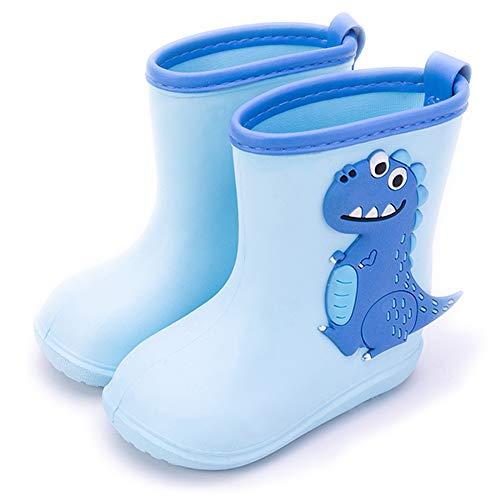 Gainsera Gummistiefel Kinder Mädchen Jungen Dinosaurier Eva Ultraleicht Regenstiefel Gummistiefel-Kinder, 1102 Himmelblau 150 22/23EU