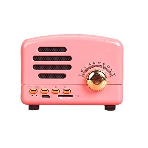 Local Makes A Comeback - Altavoz Bluetooth Retro, Radio Inteligente Inalámbrica, Bajo, Tarjeta de Audio, Mini Regalo Creativo, Rosa