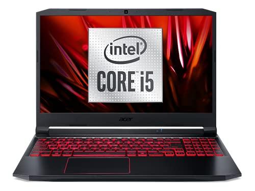 Acer Nitro 5 AN515-55-51Q4 Intel Core i5 Ordinateur Portable Gaming 15,6   FHD IPS 60 Hz, PC Portable Gamer (NVIDIA GeForce GTX 1650Ti, RAM 8 Go, 512 Go SSD, Windows 10) - Clavier AZERTY, Noir