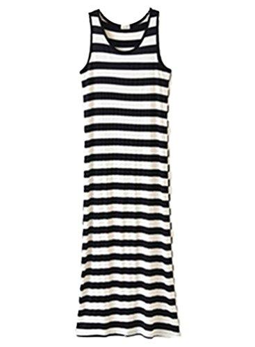 Linnuo Vestido de Playa Mujer Vestir de Camisa Noche Fiesta Chalecos T Shirt Sin Mangas Blusa Color Sólido Vest Largo