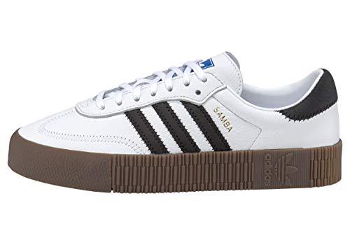 Adidas Sambarose, Zapatillas Clasicas Mujer, Blanco (Cloud White/Core Black/Gum5), 38 EU