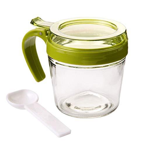 1 St groen Plastic Kruidkruik Container Kruidenpot Fles Zout Peper Opbergdoos Keuken Kruidenkist Container BBQ Kruiderij Fles