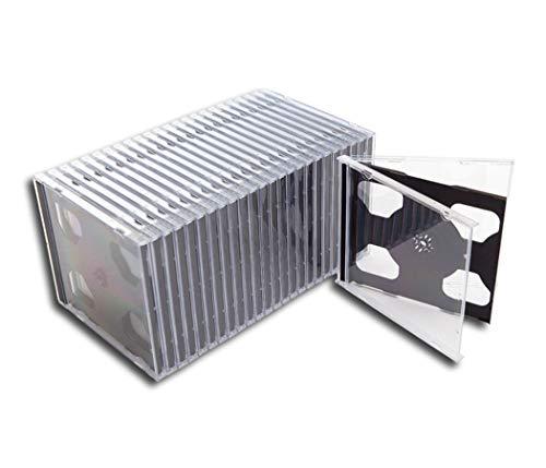 CD doppel Leerhülle/Leerkassette schmal Protected (25 Stück)