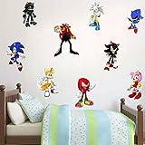 WEIGUANG Sonic The Hedgehog Juego Pegatina niños Dibujos...
