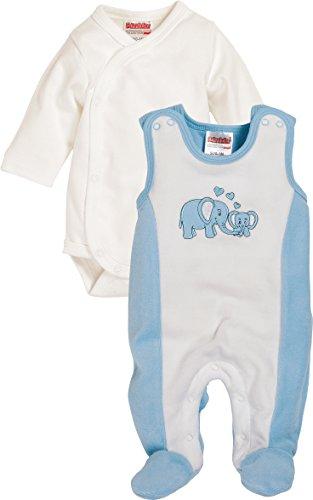 Schnizler Baby-Unisex Set Nicki Elefant Strampler, Blau (bleu 17), 50