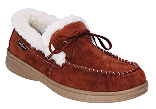 Orthofeet Proven Plantar Fasciitis Relief. Extended Widths. Best Orthopedic Arch Support Diabetic Men's Leather Moccasins, Tuscany Brown