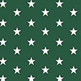 babrause® Baumwollstoff Sterne Tannengrün Webware