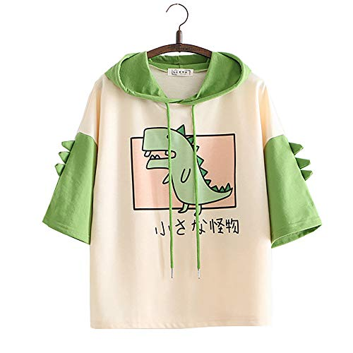 Dinosaurier Karikatur japanisch Mit Kapuze T-Shirt
