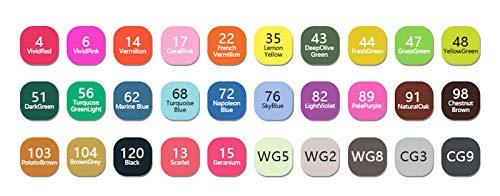 WSLCN 24/30/40/60/80 canetas marcadoras duplas, pintura com álcool, arte de ponta dupla, caneta de esboço (com bolsa para lápis) 30 cores para estudantes