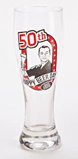 Personalised Retro Pilsner Birthday Age Beer Glass 18th 21st 30 40 50 Man Gift (Age 50)