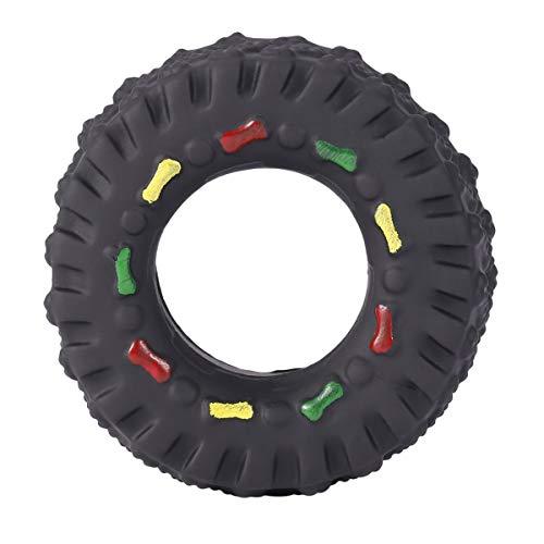 Cosye Tiergeräusche Reifenform Haustier Hundespielzeug Welpe Katze Kaut Quietschende Gummispielzeug Quietschende Reifen Haustier Spielzeug langlebig
