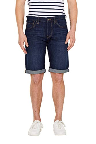 edc by ESPRIT Herren Classic Jeans Shorts, 901/BLUE Dark WASH 2, 30