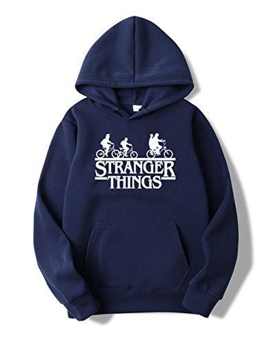 Sudadera Stranger Things Mujer, Sudadera Stranger Things 3 Niña Stranger Things Sudadera de Deporte Hombres Casual Niños Stranger Things Impresión Suéter Jersey (Armada-Blanco,M)