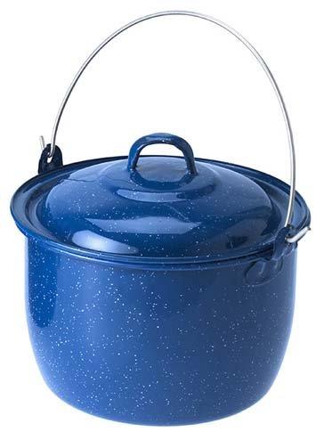 Blue Enamel 2 pintes Convex Kettle