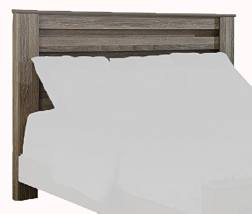 Ashley Furniture Signature Design - Zelen Poster Headboard - King or California King - Component Piece - Includes Headboard Only - Warm Gray
