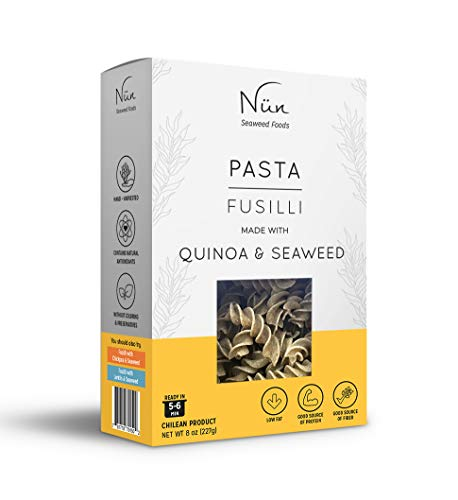 Nun Pasta Pack – Seaweed Pasta – 8 oz – Legume and Grain Pasta Variety Pack – Sustainably Made Pasta with Chilean Seaweed (Quinoa) (Fusilli) (Pack of 6)