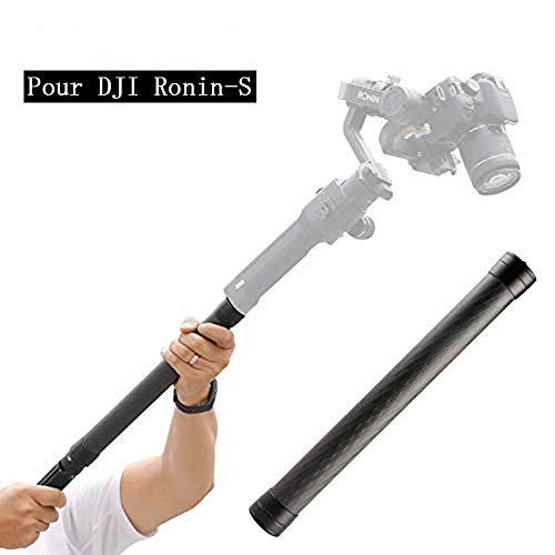 Linghuang monopod voor DJI Ronin S stabilisator van koolstofvezel voor Moza Air Cross FeiyuTech AK4000 Zhiyun Crane 2 Smooth 4 stabilisator verlenging Rod Stick met 1/4 inch schroeven