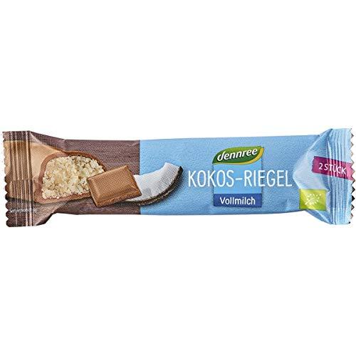 dennree Kokos-Riegel in Vollmilchschokolade (40 g) - Bio