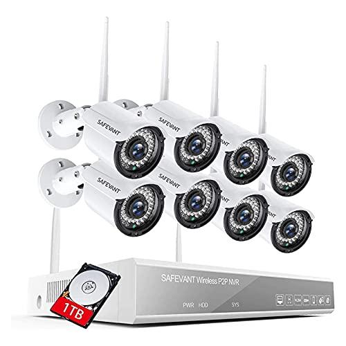 1080P Wireless Security Camera System,SAFEVANT 8...