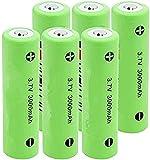 Batería de Litio 18650 3.7V 3000mAh baterías Recargables de Litio para Linterna 6pcs