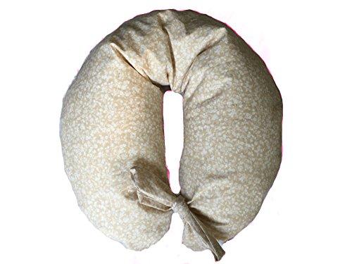 merrymama–Stillkissen + Futter mit Schnürung/cm 130(gefüllt mit Bio-Dinkelspelz) Provenzale Ecrù