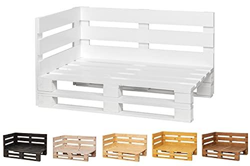 Chaise Longue Sofa PALETS Lijado Y Cepillado Interior/Exterior Nuevo Sillon PALETS/Sofa para Patio (120cm X 80cm, Blanco)