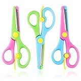 HAKACC Kinderschere, 3 Stück Kinder Bastelschere Vorschule Training Schere Kinder Sicherheit Schere Art Craft Schere -