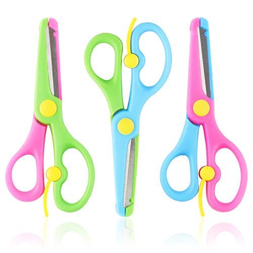 HAKACC Kinderschere, 3 Stück Kinder Bastelschere Vorschule Training Schere Kinder Sicherheit Schere Art Craft Schere