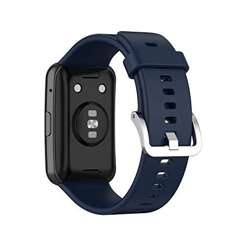 RuenTech Pulsera compatible con Huawei Watch Fit Fitness Tracker de repuesto, correa de repuesto para reloj inteligente Huawei Watch Fit, pulsera de silicona resistente al agua, suave, flexible