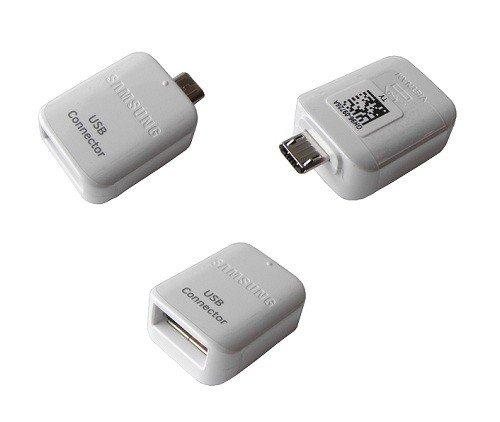 Adattatore originale GH96-9728A da Micro USB OTG a USB 2.0, per Samsung Galaxy S5, S6, S7 Edge, colore: bianco