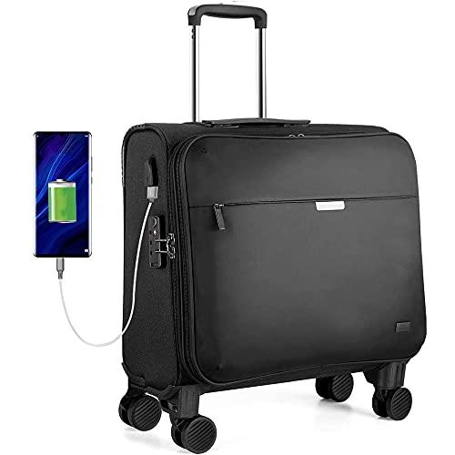 """Laptop-Trolleys, Business Trolley Laptop Koffer mit TSA-Zollschloss USB-Ladeanschluss 14\"""" Laptopfach Handgepäck 33L 16 Zoll"""