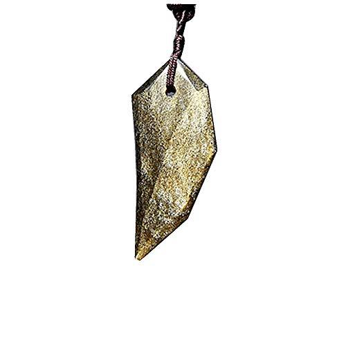 Halskette mit Wolfszahn-Anhänger aus Obsidian, für Damen und Herren, mit Seil-Amuletten und Talismanen