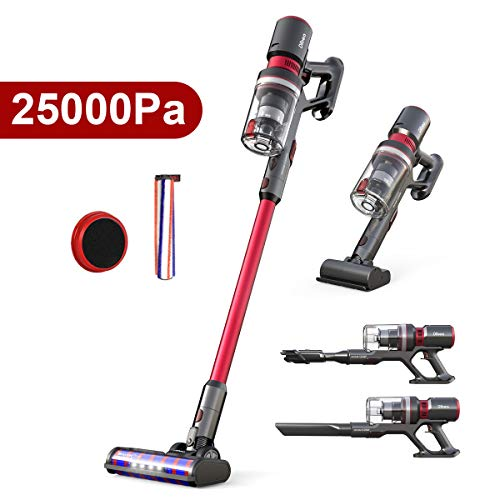 dibea Cordless Stick Vacuum Cleaner with 3 Speeds,25000KPa 5 in 1 Handheld...