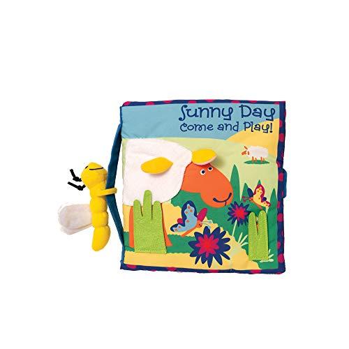 Livre d'activités douces avec jouet de Manhattan avec jouet attaché, journée ensoleillée
