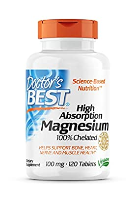 Doctor's Best High Absorption 100% Chelated Magnesium 120 Tablets from Doctor's Best