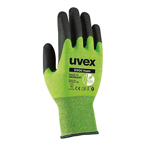 Uvex D500 Foam - Schnittschutzhandschuhe mit Grip-Beschichtung - Gr. 08/M
