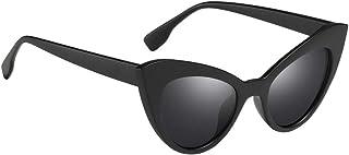 Baoblaze Retro Vintage Narrow Cat Eye Sunglasses for Women Men Plastic Frame