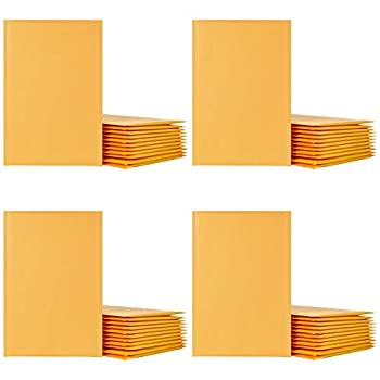 8.5x11  200 Pack Wholesale Kraft Bubble Mailers #2 Yellow Padded Envelopes Self-seal Bubble Wrap Shipping Envelope Bags - XCGS